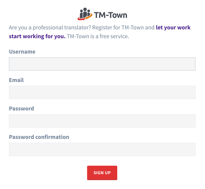 Register for TM-Town